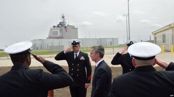 Архив генсекретарь НАТО Йенс Столтенберг на базе ПРО Aegis Ashore в Румынии